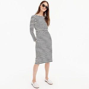 NWT J. Crew Black & Ivory Striped Dress - Size 4
